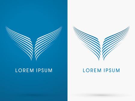 logo poisson: Conte de baleine, poissons, Aile, Abstrait, logo, symbole, icône, graphique, vecteur.