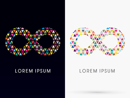 Colorful Infinity, Abstract Loop, limitless, sign, logo, symbol, icon, graphic, vector.
