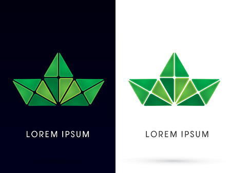 green building: Abstract Leaf ,logo, symbol, icon, graphic, vector.