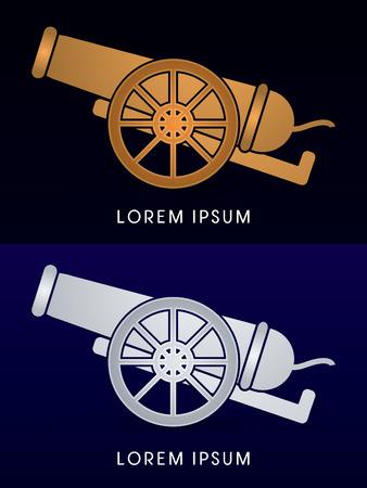 wheel guard: Luxury Cannon, sign ,logo , symbol, icon, graphic, vector.