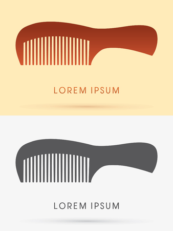 comb hair: Comb hair, sign, logo, symbol, icon, graphic, vector.