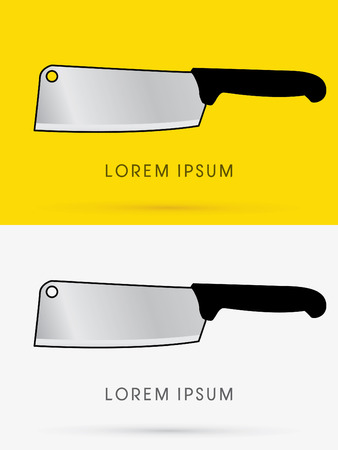 chopping: Chopping knife, sign, logo, symbol, icon, graphic, vector.