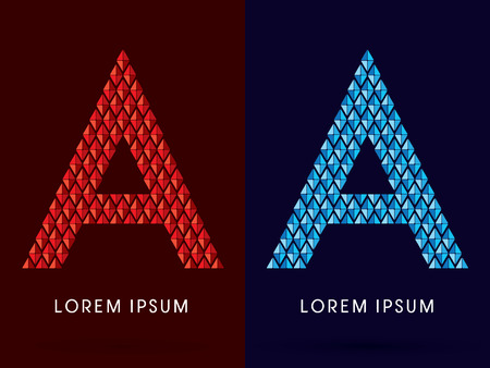 fire and ice: A ,Abstract font, concept hot and cool, fire and ice, graphic, vector.