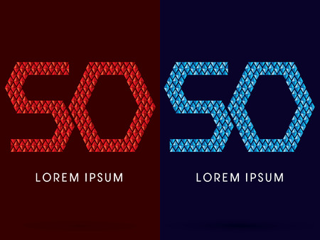 fire and ice: 50 ,Abstract font, concept hot and cool, fire and ice, graphic, vector. Illustration