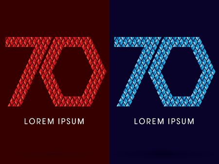 fire font: 70 ,Abstract font, concept hot and cool, fire and ice, graphic, vector.