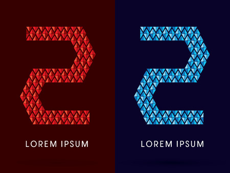 fire and ice: 2 ,Abstract font, concept hot and cool, fire and ice, graphic, vector.