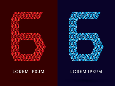 fire font: 6 ,Abstract font, concept hot and cool, fire and ice, graphic, vector.