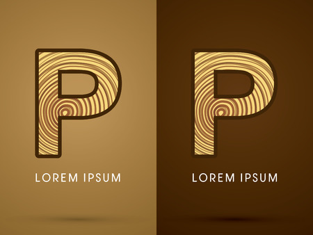p buildings: P ,Abstract  font, concept wood, sign ,logo, symbol, icon, graphic, vector.
