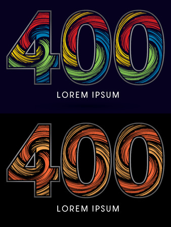 spin: 400 ,Abstract , font, concept Spin,designed using colors and gold silver bronze grunge brush,sign ,logo, symbol, icon, graphic, vector.