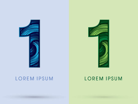 spin: 1 ,Abstract , font, concept Spin water, wind and natural, designed using blue and green grunge brush, sign.