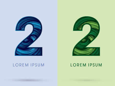 spin: 2 ,Abstract , font, concept Spin water, wind and natural, designed using blue and green grunge brush, sign.
