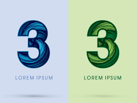 spin: 3 ,Abstract , font, concept Spin water, wind and natural, designed using blue and green grunge brush, sign.