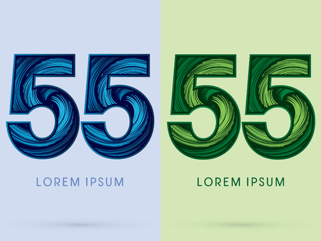 absorb: 55 ,Abstract , font, concept Spin water, wind and natural, designed using blue and green grunge brush, sign.