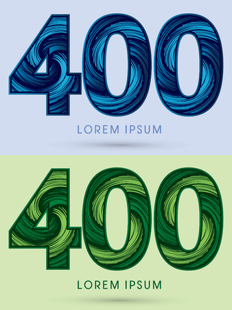 spin: 400 ,Abstract , font, concept Spin water, wind and natural, designed using blue and green grunge brush, sign. Illustration