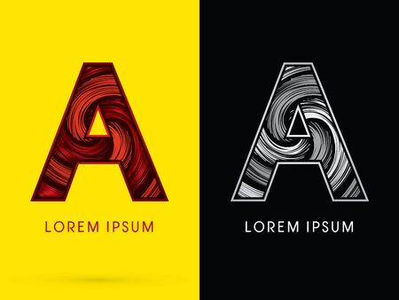 spin: A ,Abstract , font, concept  Spin, designed using red,black and white, grunge brush, sign. Illustration