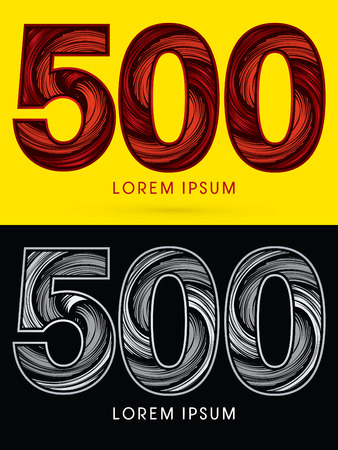 spin: 500 ,Abstract , font, concept  Spin, designed using red,black and white, grunge brush, sign.