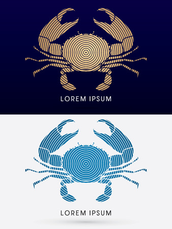 pincers: Big Crab and big pincers, graphic vector.
