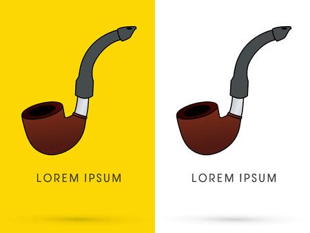 tobacco: Tobacco pipes, graphic, vector.