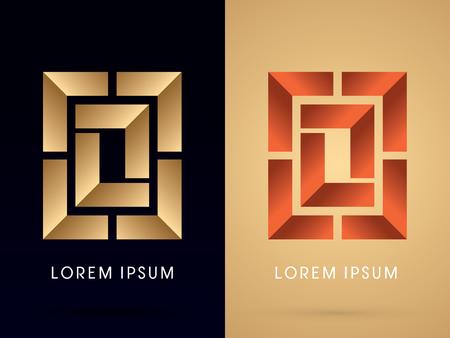 geometric design: Abstract shape, Square ,Box , graphic vector