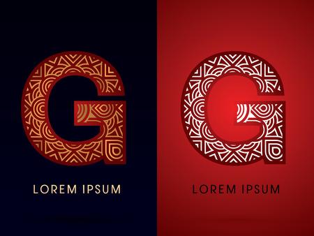 venation: G ,Abstract, font, concept filigree, floral, graphic, vector. Illustration