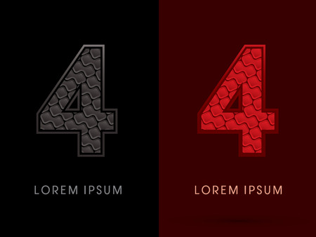 rojo oscuro: 4 ,Abstract Font, Text, Typography, concept luxury hot and dark, red and black, pattern, graphic vector. Vectores