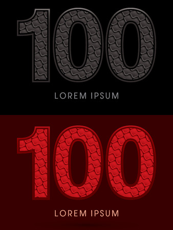rojo oscuro: 100 ,Abstract Font, Text, Typography, concept luxury hot and dark, red and black, pattern, graphic vector.