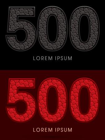 fondo rojo: 500, Resumen de la fuente, texto, tipograf�a, modelo caliente y oscuro, rojo y negro, el concepto de lujo, gr�fico de vector.