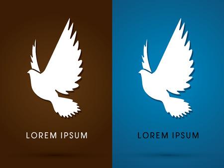 holy symbol: Silueta de la paloma icono gr�fico
