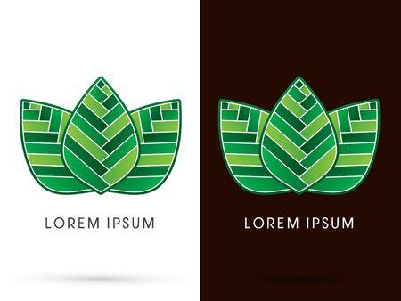 sign symbol: 3 leafs, sign, symbol, graphic, vector. Illustration