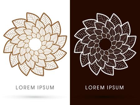 twist: Outline Luxury Lotus, graphic, vector.