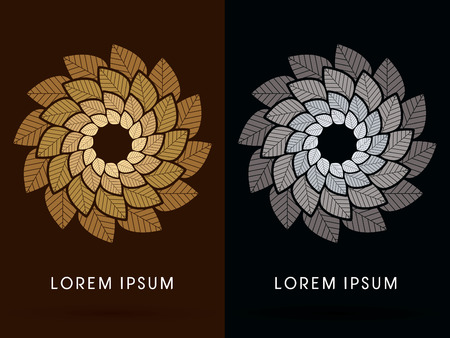 wheel spin: Luxury Lotus, wheel, spin, windmill, designed using gold and silver colors tone, graphic, vector.