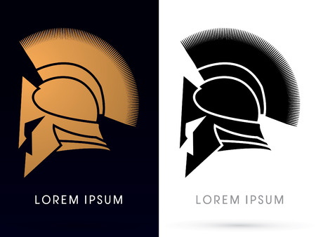 spartan: Gold and Black ,Roman or Greek Helmet, Spartan Helmet icon