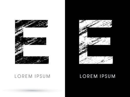 destroy: E ,Font grunge destroy graphic