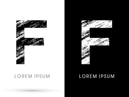 destroy: F ,Font grunge destroy graphic