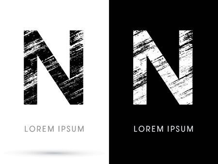 distress: N ,Font grunge destroy graphic