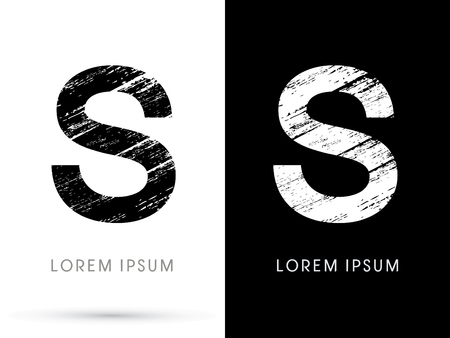 destroy: S ,Font grunge destroy graphic