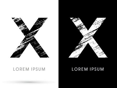 destroy: X ,Font grunge destroy graphic