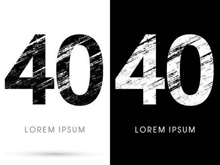 destroy: 40 ,Font grunge destroy graphic