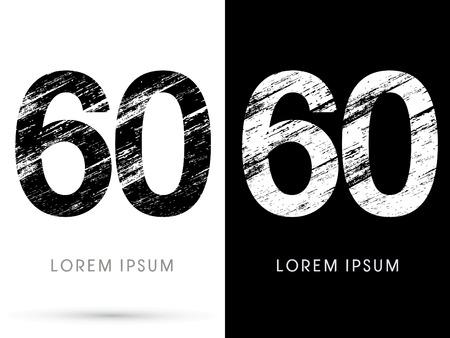 destroy: 60 ,Font grunge destroy graphic Illustration