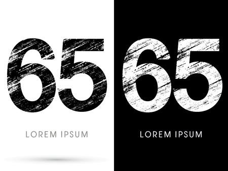 destroy: 65 ,Font grunge destroy graphic