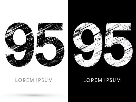 destroy: 95 ,Font grunge destroy, graphic vector.