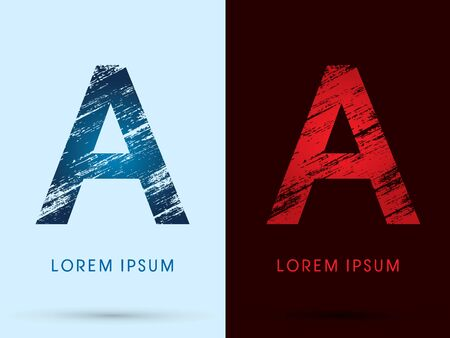 fire and ice: A ,Font Cool and Hot, Ice and Fire grunge destroy graphic