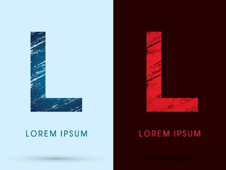 fire font: L ,Font Cool and Hot, Ice and Fire grunge destroy graphic Illustration