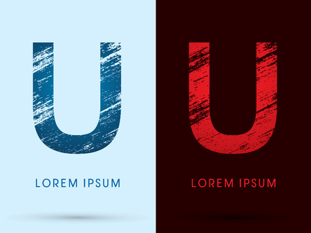 fire font: U ,Font Cool and Hot, Ice and Fire grunge destroy graphic