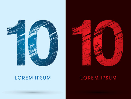 fire font: 10 ,Font Cool and Hot, Ice and Fire, grunge destroy, graphic vector. Illustration