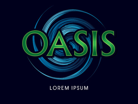 an oasis: Oasis Font, typography graphic vector.