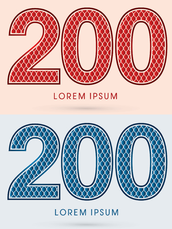 chromium: 200, Font, Concept  Hot and Cool, Wire Mesh, steel, net, graphic vector. Illustration