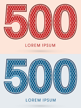 500, Font, Concept  Hot and Cool, Wire Mesh, steel, net, graphic vector.