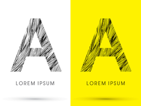 venation: A ,Font , hair line, graphic vector.