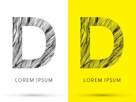 venation: D ,Font , hair line, graphic vector.